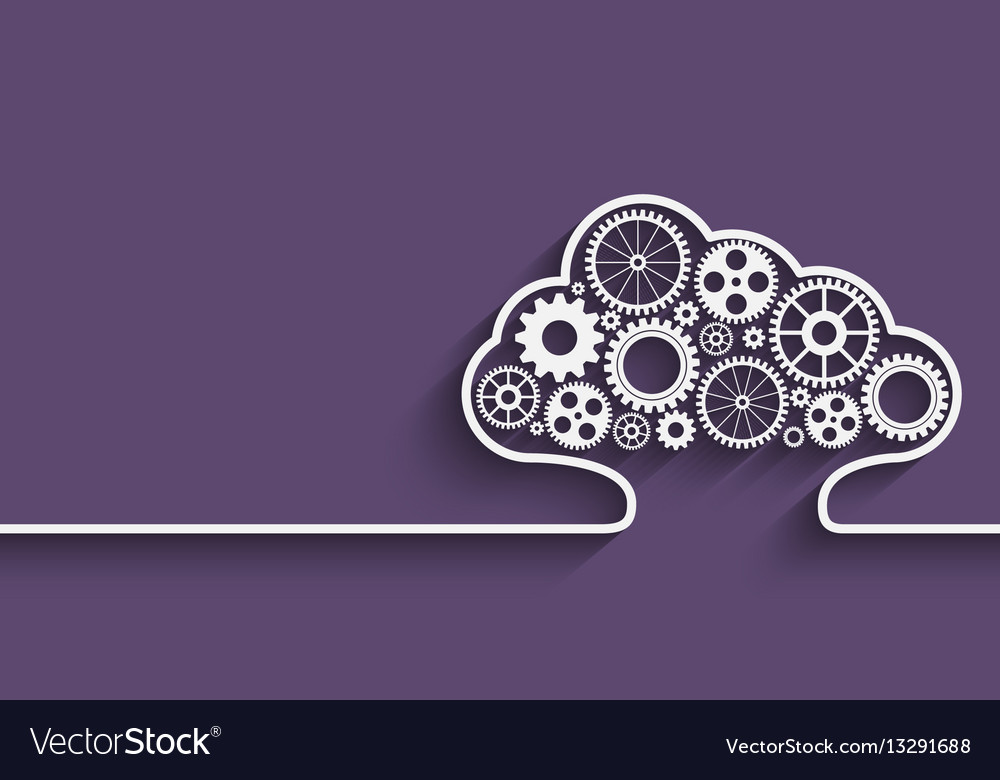 Cloud computing gears vector