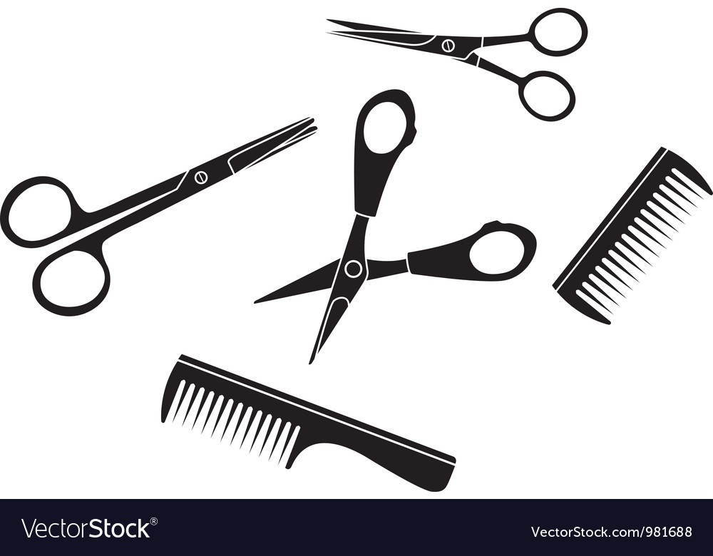 Tools of hairdresser vector