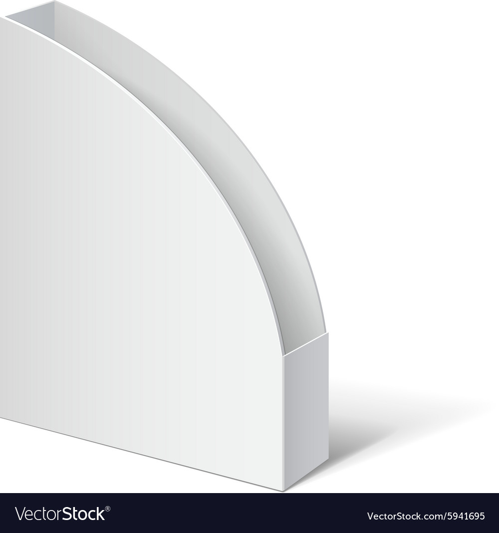 Cardboard holder for brochures and flyers vector