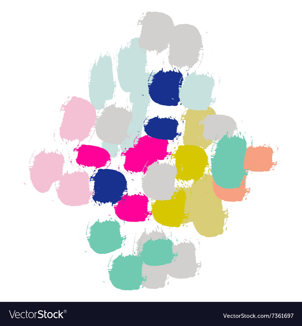 Acrylic paint brush stroke imitation vector