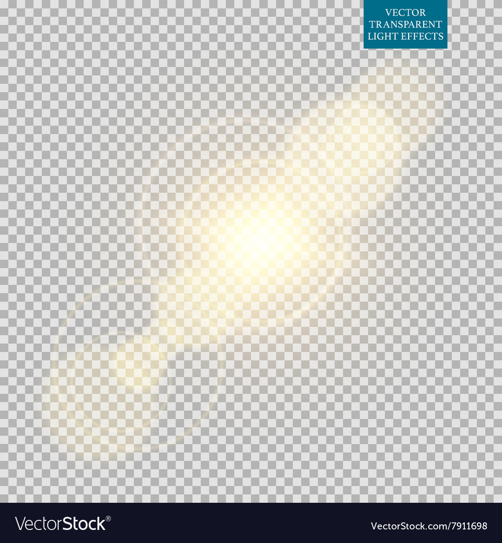 Abstract image of lighting flare set vector