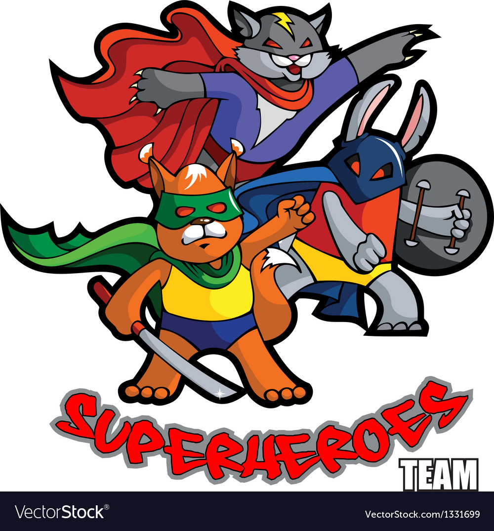 Superheroes team vector