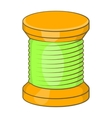 Wooden coil icon cartoon style vector image