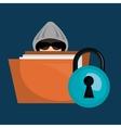 avatar criminal hacker vector image