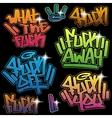 inscriptions in graffiti style vector image