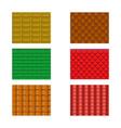 Color roof tiles set vector image