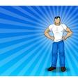 Modern Superhero vector image