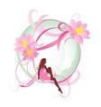 flower girl vector image vector image
