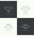 Set of hipster logo vector image