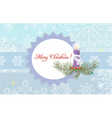 candle with snowflakes vector image vector image