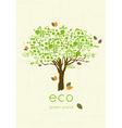 eco friendly tree vector image vector image