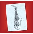 doodle saxophone vector image
