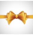 Gold holiday ribbon with bow vector image