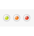 light buttons with green orange and red color vector image