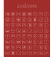 Set of business simple icons vector image