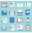 Set of flat icons for web and mobile applications vector image