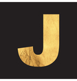 Uppercase letter J of the English alphabet vector image