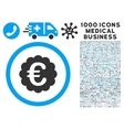 Euro Quality Seal Icon with 1000 Medical Business vector image