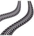 tire tracks isolated icon vector image