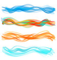 abstract flame wave set vector image