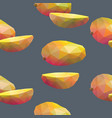 geometric polygonal fruits seamless pattern vector image
