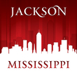 Jackson Mississippi city skyline silhouette vector image vector image