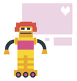 Card design with cute robot vector image