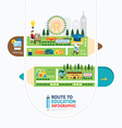 Infographic education pencil shape template vector image vector image