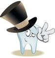 Live tooth with face arms and eyes vector image
