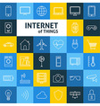 Line Art Internet of Things Icons Set vector image