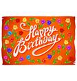 Happy Birthday Card flower tulip vintage orange vector image