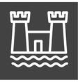 Castle on Beach vector image