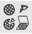 Set Symbols Pizza vector image