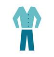 shirt pants clothes icon image vector image
