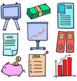 stock of business object doodles vector image