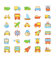 Transport Colored Icons 4 vector image