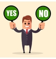 Yes or no choice business concept web info vector image