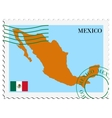 mail to-from Mexico vector image vector image