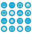 speedometer icon blue vector image