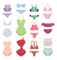 swimsuit woman models design collection vector image