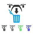 Trash drone flat icon vector image