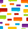 Colorful speech bubble background vector image