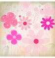 Greeting card floral background vector image vector image