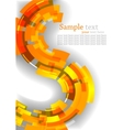 abstract background with orange line vector image