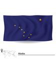 Flag of Alaska vector image