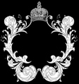 ornate heraldic art deco vector image vector image