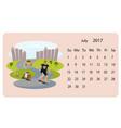calendar 2018 for july vector image