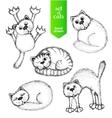 Cats set vector image