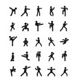different karate poses vector image