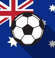 football icon with Australia flag background vector image